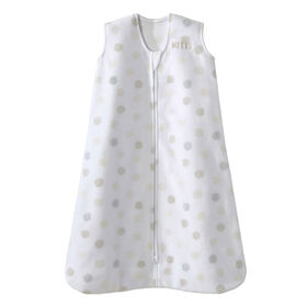 HALO SleepSack - Micro Fleece - White Sketch Dot - Medium
