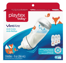 Playtex Baby Ventaire Baby Bottle, 9oz, 3-Pack - Fox