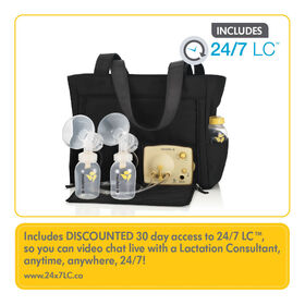 Medela Pump in Style Breastpump Slouch bag- with BPA-Free Bottles