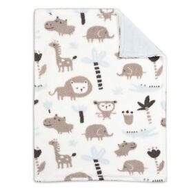Koala Baby Baby Blanket - Blue Printed Jungle Animal