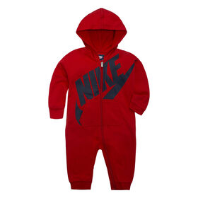 Nike Coverall- Red, 3-6 Months