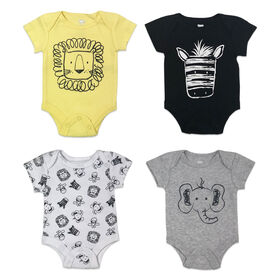 Koala Baby 4-Pack Bodysuit - Yellow, Newborn