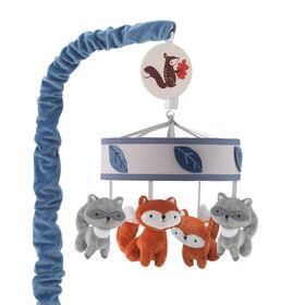 Lambs & Ivy - Little Campers Musical Baby Crib Mobile - Blue||Lambs & Ivy - Little Campers Musical Baby Crib Mobile - Blue