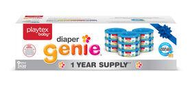 Playtex - Recharge Diaper Genie - provision d'un an (Emballage de 9 recharges).