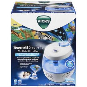 Vicks Sweet Dreams Cool Mist Humidifier - Blue