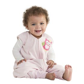 Halo SleepSack Early Walker Microfleece Pink Owl- XL