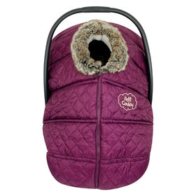 Petit Coulou  Winter car seat cover - Burgundy/Grey